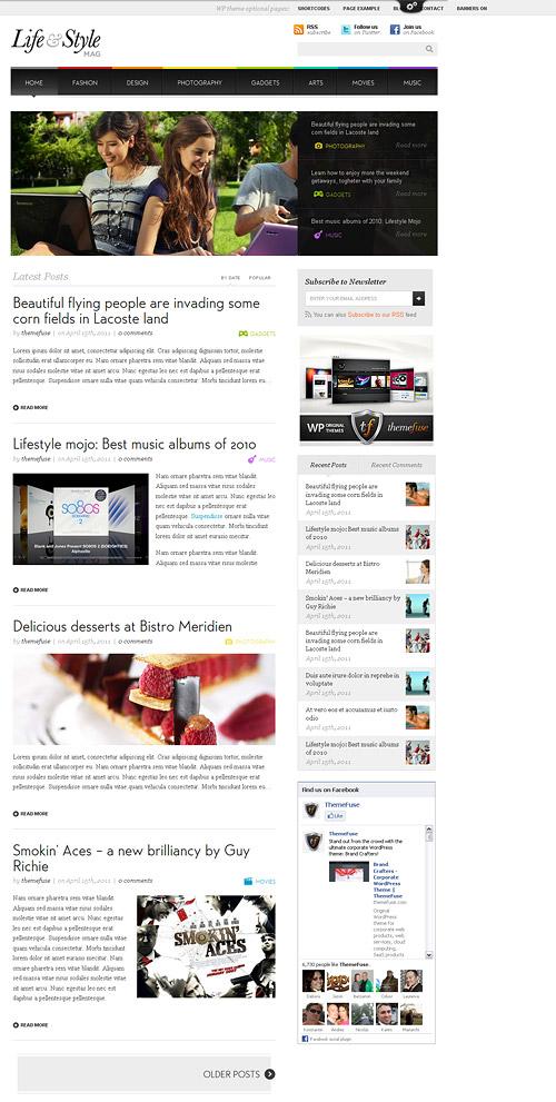 life & style wordpress theme