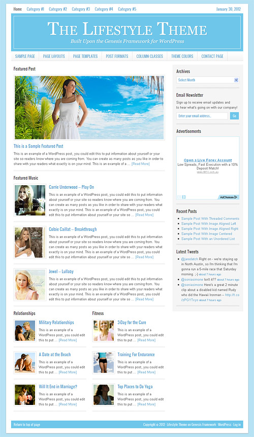 lifestyle wordpress theme