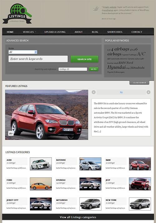 listings wordpress theme