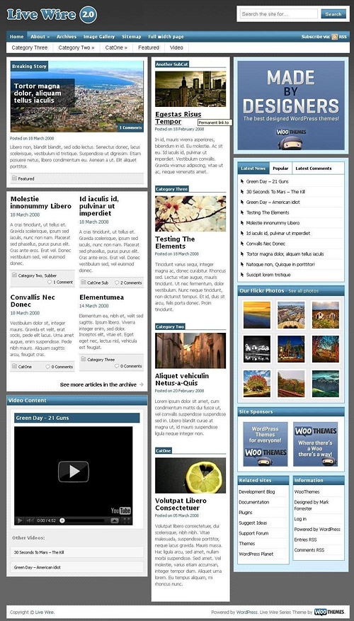 live wire wordpress theme