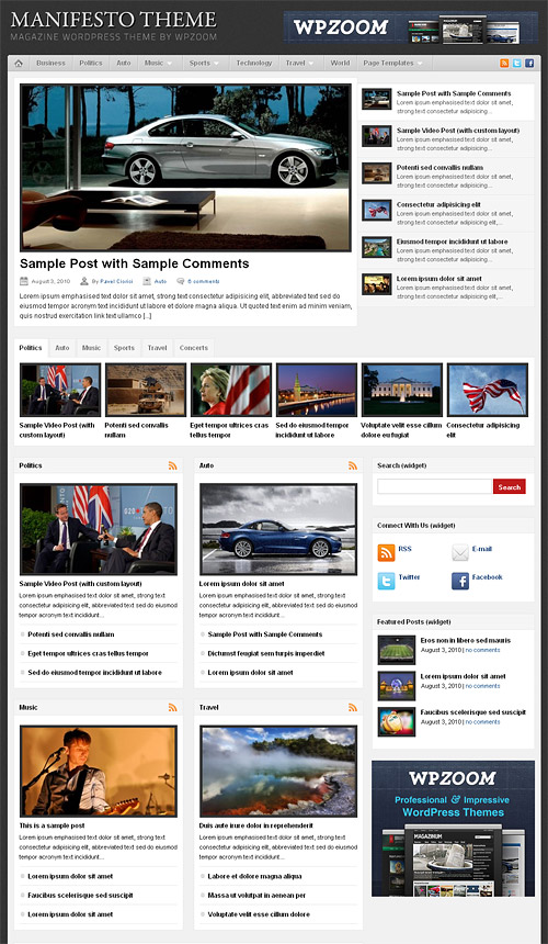 manifesto wordpress theme