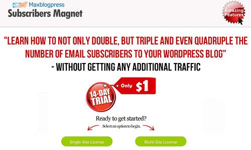 maxblogpress subscribers magnet