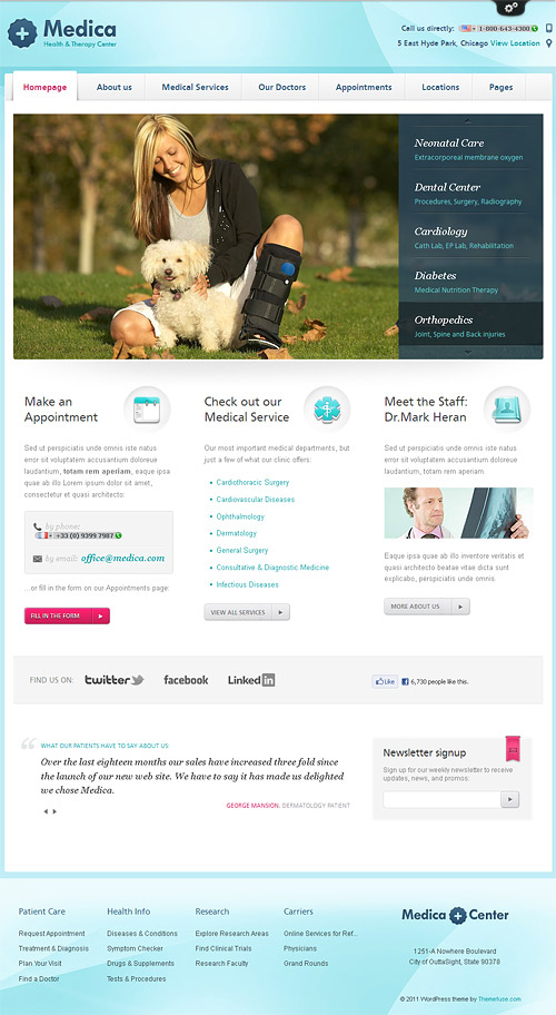 medica wordpress theme