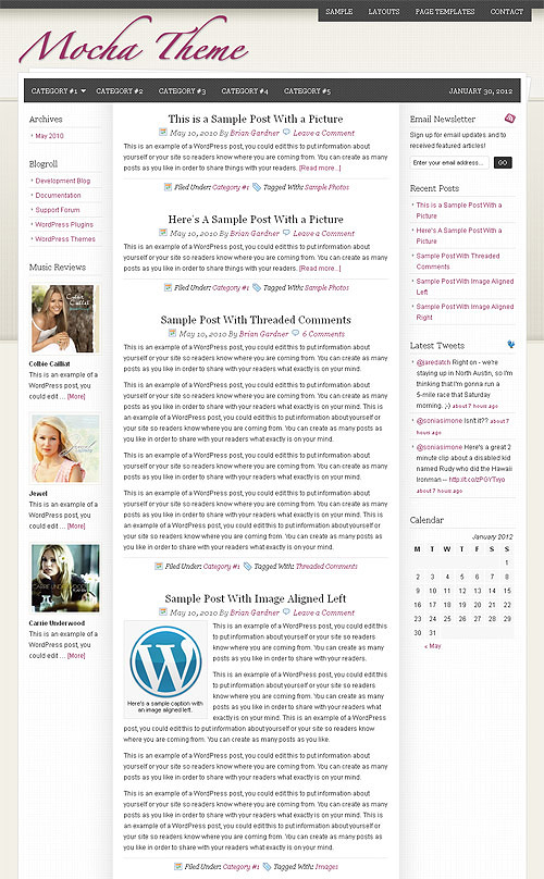mocha wordpress theme
