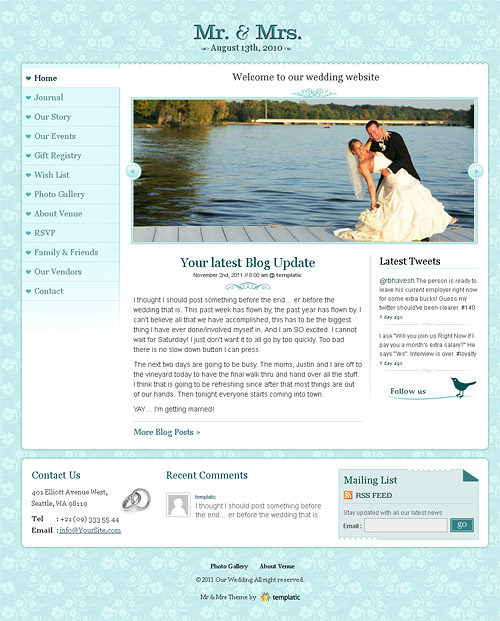 mr. & mrs. wordpress theme