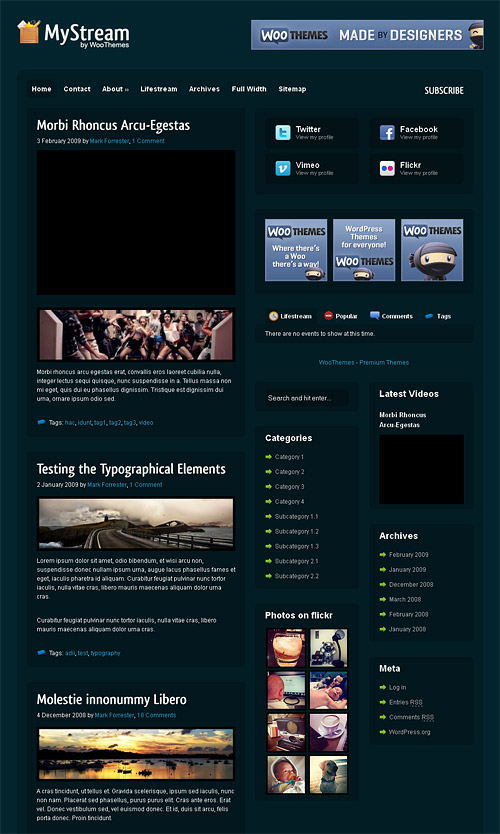 my stream wordpress theme