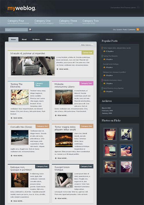 myweblog wordpress theme