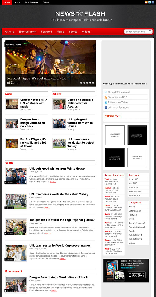 news flash wordpress theme
