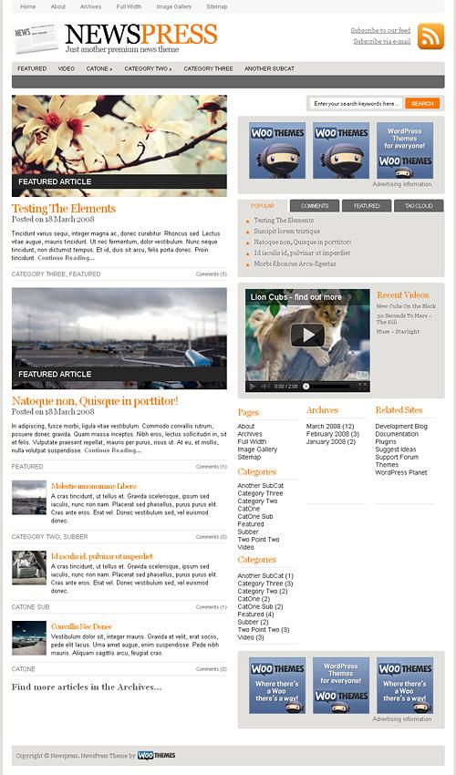 news press wordpress theme