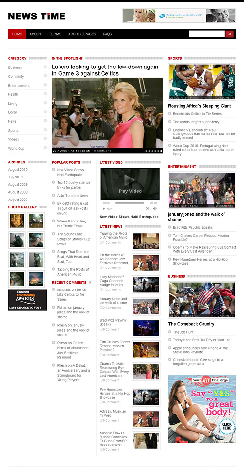 news time wordpress theme