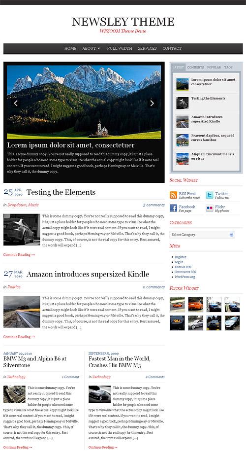 newsley wordpress theme