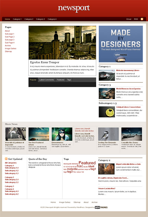 newsport wordpress theme