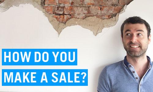 how to make a sale