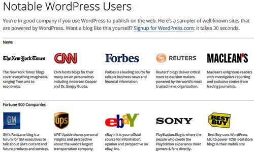 notable wordpress blogs