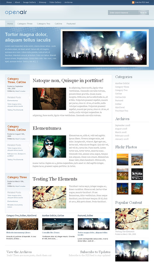 open air wordpress theme