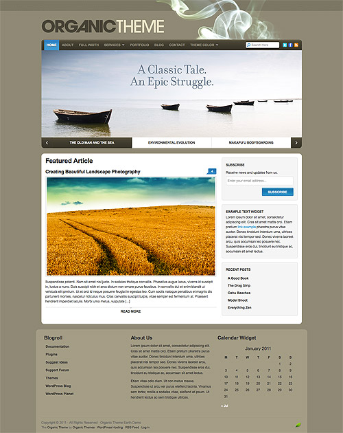 organic earth wordpress theme