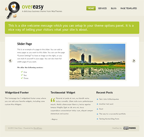over easy wordpress theme