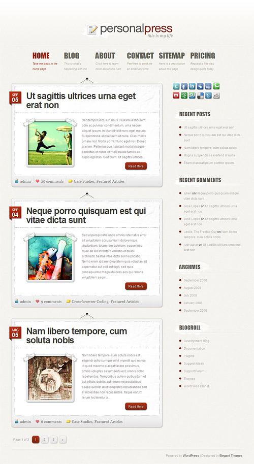 personal press wordpress theme