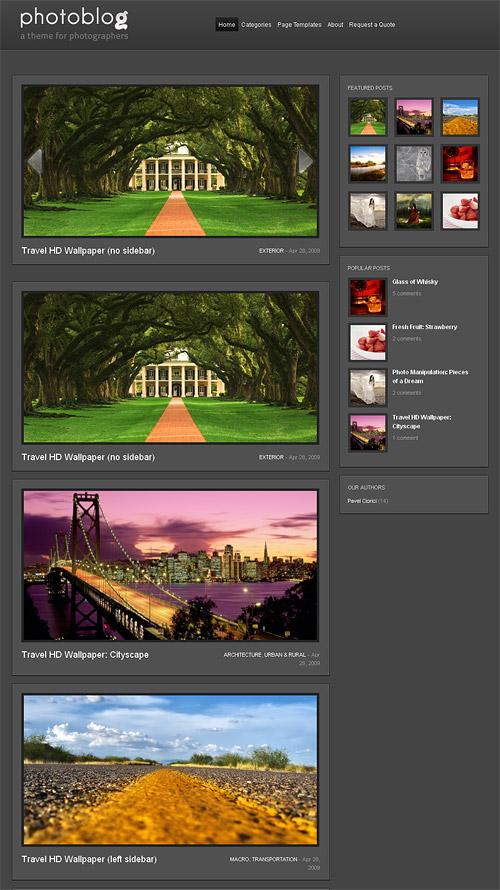 photo blog wordpress theme