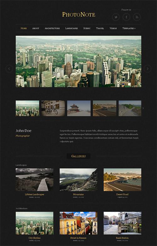 photo note wordpress theme