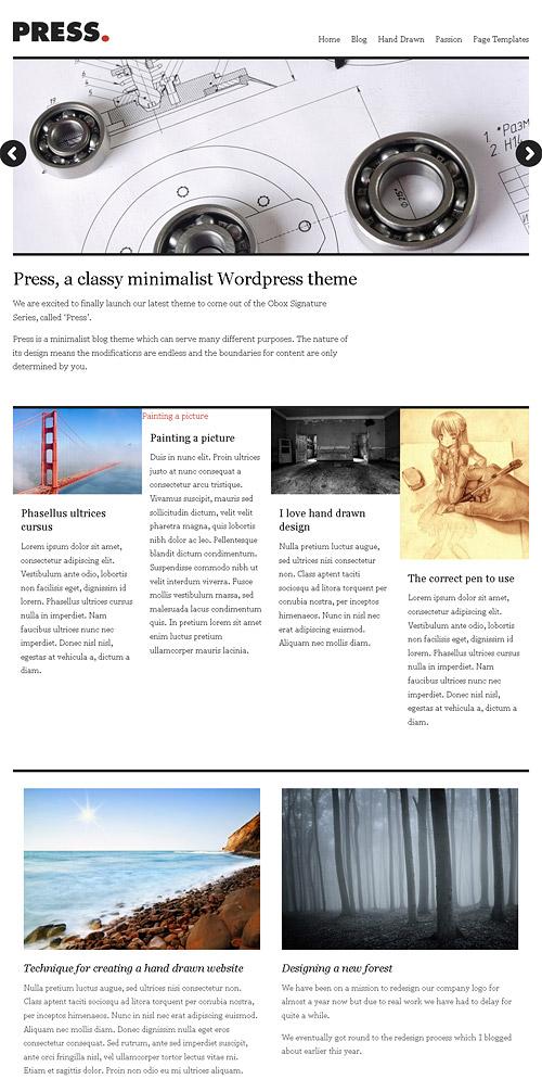 press wordpress theme