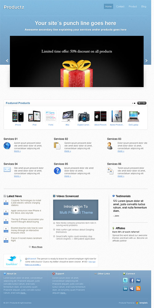 productz wordpress theme