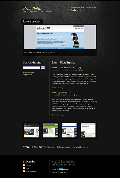 proud folio wordpress theme