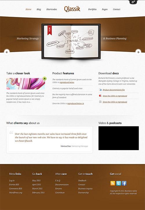 qlassik wordpress theme