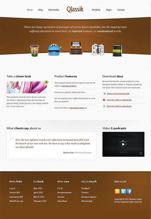 qlassik wordpress theme