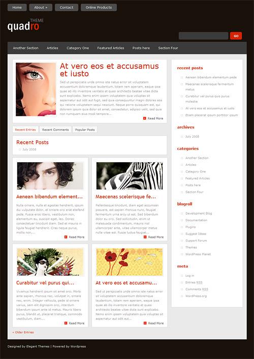 quadro wordpress theme