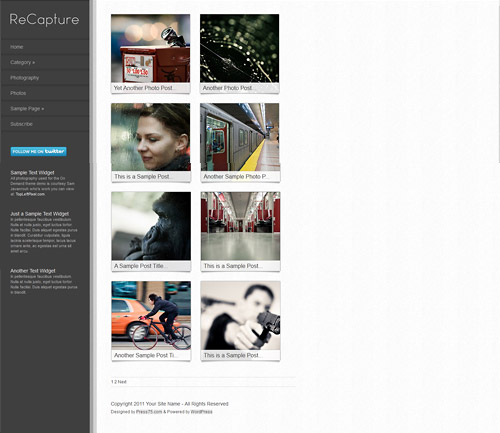 recapture wordpress theme