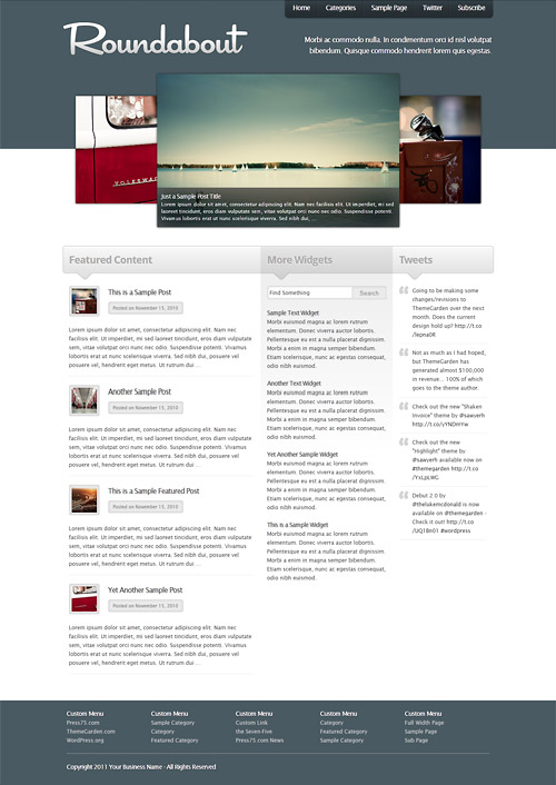 roundabout wordpress theme