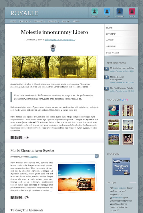 royalle wordpress theme