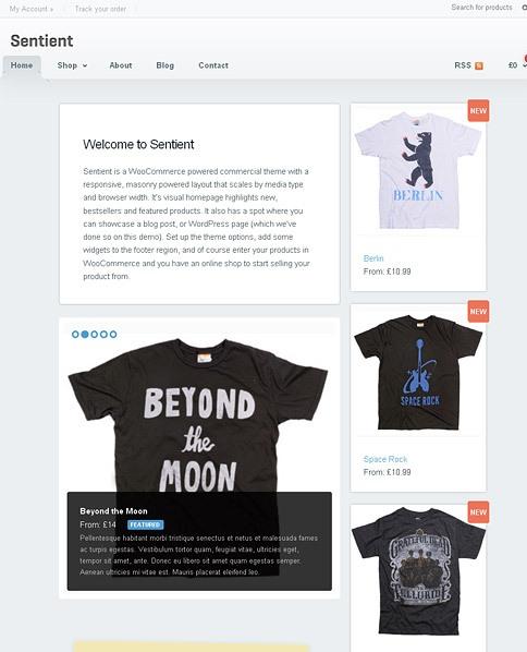 sentient wordpress theme