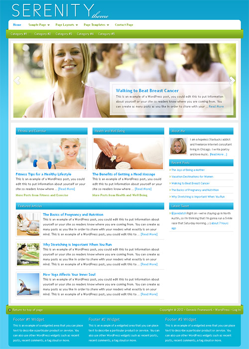 serenity wordpress theme