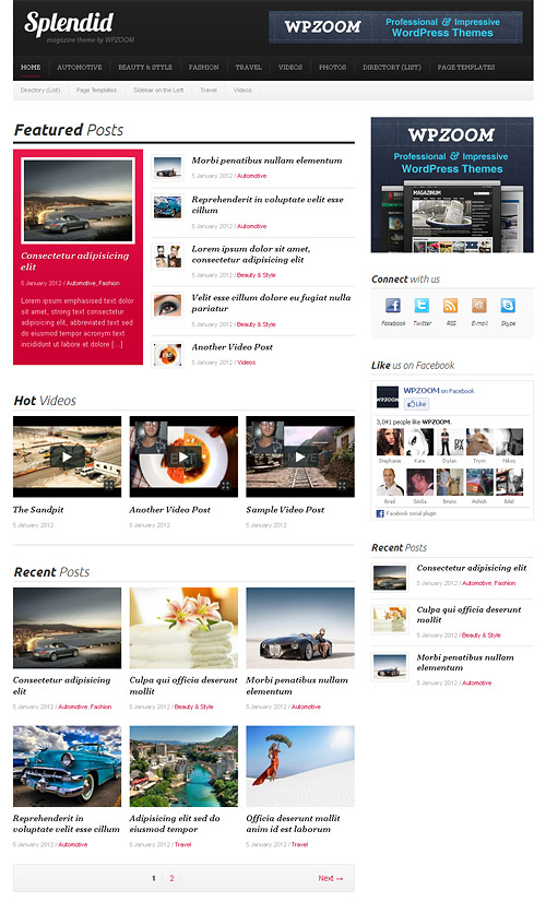 splendid wordpress theme