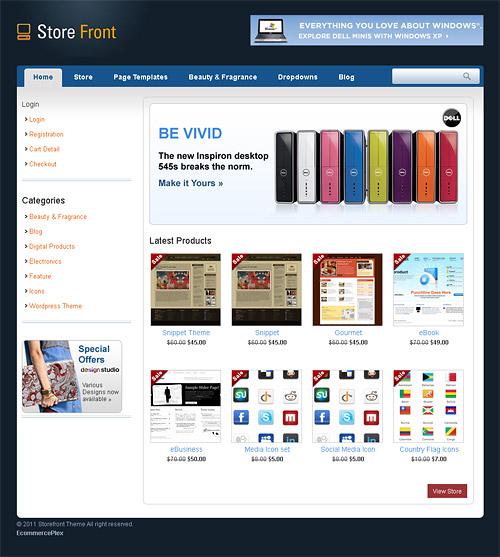 store front wordpress theme