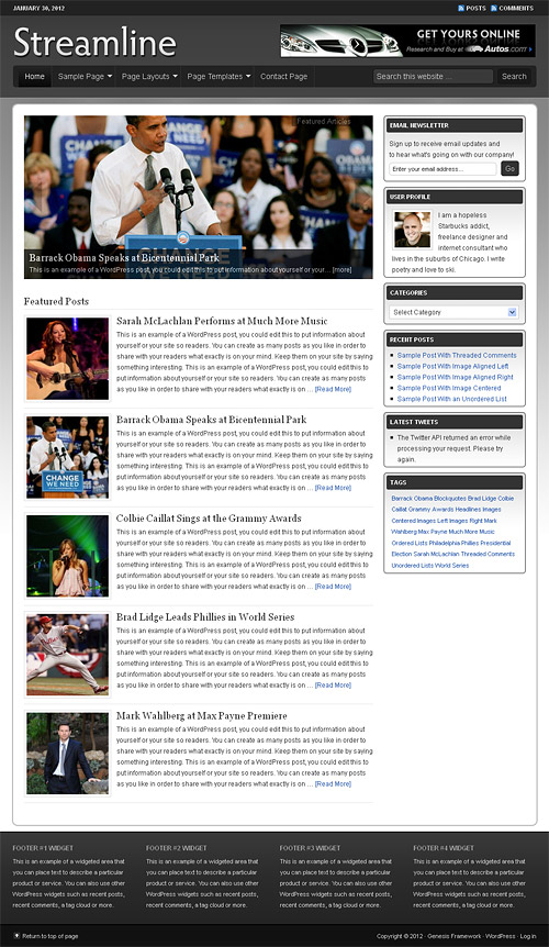 streamline wordpress theme