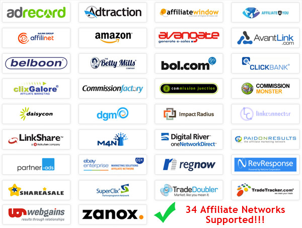 supported affiliate network