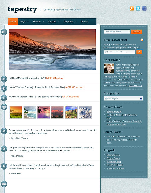 tapestry wordpress theme