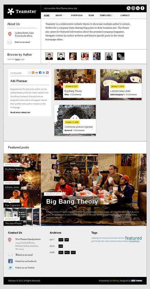 teamster wordpress theme