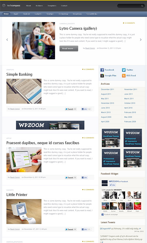 tech compass wordpress theme