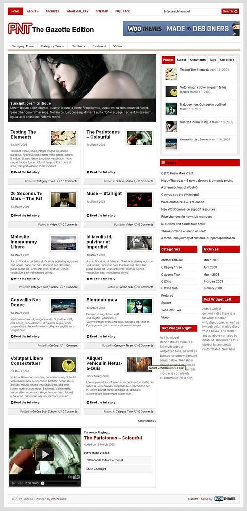 the gazette edition wordpress theme