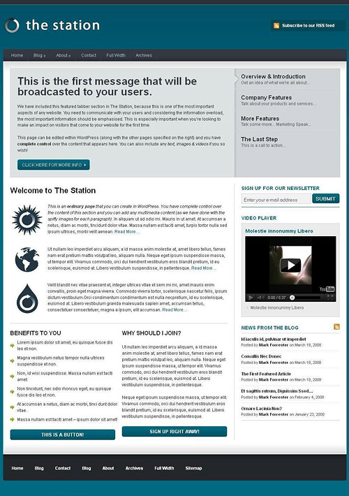 the station wordpress theme