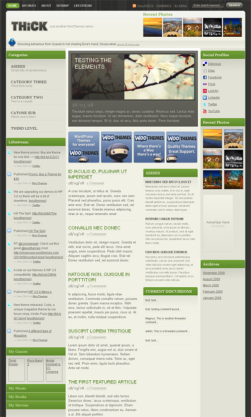 thick wordpress theme