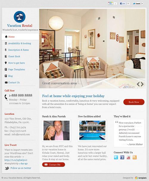 vacation rental wordpress theme