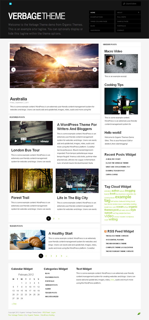 verbage wordpress theme