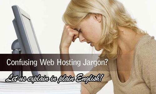 web hosting jargon