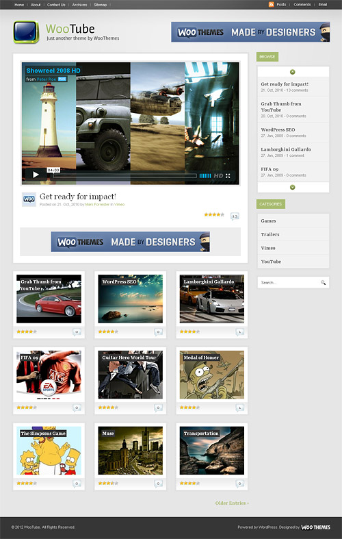 woo tube wordpress theme