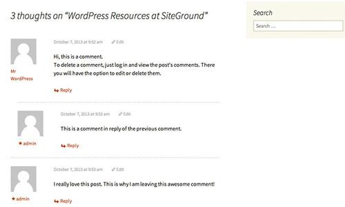 delete comments